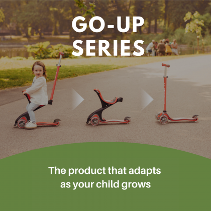 Globber Go-Up Comfort Light with stabilizer for toddler 9months+, Red