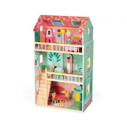 Janod Wooden Happy Doll House