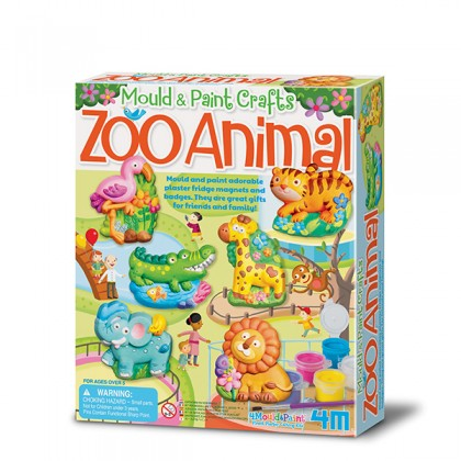 4M Mould & Paint - Zoo Animal